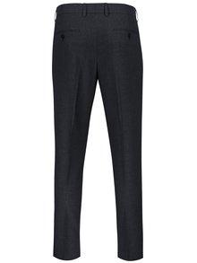 Modré pánske oblekové skinny nohavice s jemným vzorom Burton Menswear London