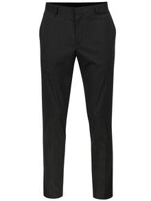 Pantaloni gri skinny de costum cu model discret - Burton Menswear London