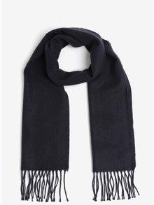 Fular tricotat bleumarin cu model discret Burton Menswear London