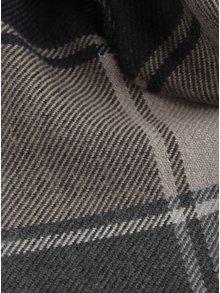 Šedo-modrá kostkovaná šála s třásnemi Burton Menswear London