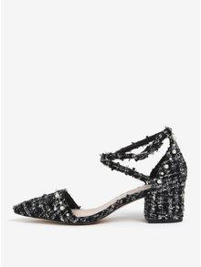 Bílo-černé strukturované sandálky Miss KG Ava