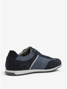 Pantofi sport albastri cu piele intoarsa pentru barbati Geox Clemet