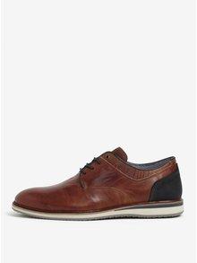 Pantofi maro din piele pentru barbati Dune London Bodyguard