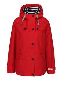 Červená dámska nepremokavá bunda Tom Joule