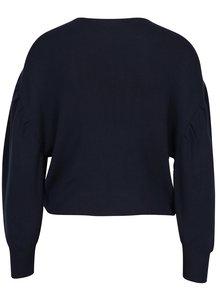 Tmavomodrý sveter s výšivkou Miss Selfridge