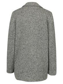Sivý melírovaný krátky kabát Miss Selfridge