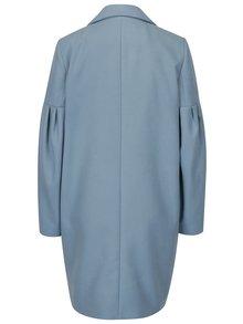 Modrý kabát s balonovými rukávy Miss Selfridge