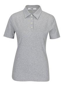 Šedé dámské polo tričko Zagh