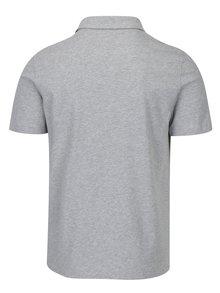 Šedé pánské polo tričko Zagh