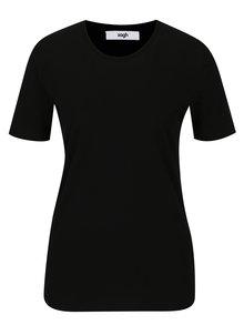 Černé dámské tričko s kulatým výstřihem Zagh