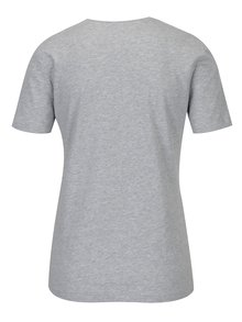 Tricou gri melanj din bumbac pentru femei - Zagh