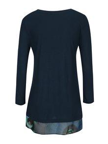 Tmavě modré tričko s dlouhým rukávem Desigual Indira