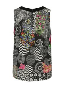 Top negru cu print abstract  Desigual Harmony