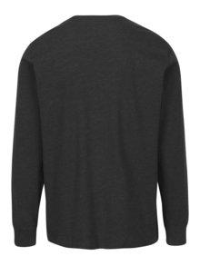Bluza gri inchis melanj cu logo pentru barbati -  Converse Tee Cuff