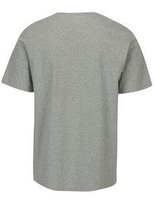 Tricou gri melanj din bumbac cu print pentru barbati -  Converse Chuckpatch