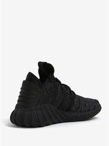 Čierne dámske tenisky s trblietavým efektom adidas Originals Tubular Dawn