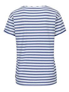 Tricou din bumbac cu dungi alb & albastru - Scotch & Soda