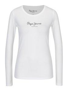 Biele dámske tričko s potlačou Pepe Jeans New Virginia