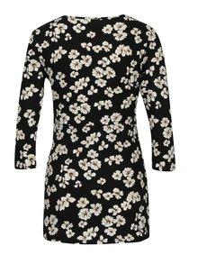 Bluza neagra cu maneci 3/4 si print floral pentru alaptat  Dorothy Perkins Maternity