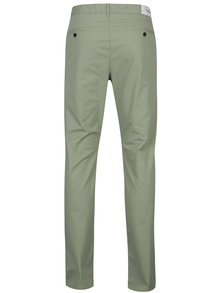 Světle zelené chino kalhoty Farah Twill