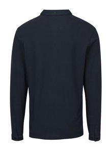 Bluza polo bleumarin cu logo brodat - Farah Merriweather