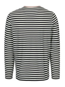 Bílo-modré pruhované tričko s dlouhým rukávem Farah Trafford