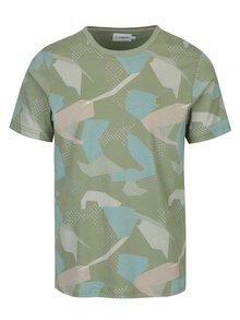 Světle zelené vzorované tričko Farah Northenden
