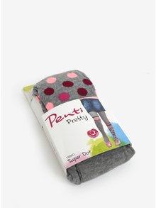Šedé holčičí puntíkované punčocháče Penti