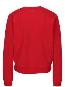 Červená dámska krátka mikina Calvin Klein Jeans