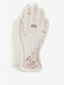 Farfurie ceramica crem deschis in forma de mana - Disaster Over The Moon Hand
