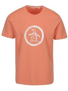 Marhuľové tričko s potlačou Original Penguin