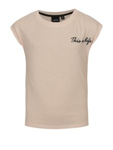 Svetloružové dievčenské tričko LIMITED by name it Noisa