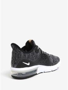 Černé dámské žíhané tenisky Nike Air Max Sequent 3 Running