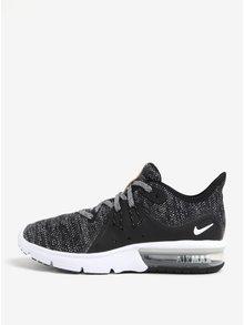 Čierne dámske melírované tenisky Nike Air Max Sequent 3 Running