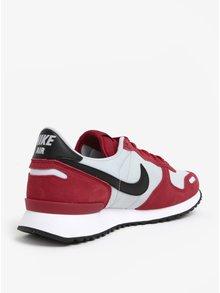 Šedo-červené semišové pánské tenisky Nike Air Vortex