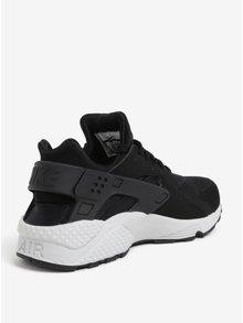 Čierne pánske tenisky s bielou podrážkou Nike Air Huarache