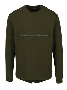 Bluza verde inchis cu fermoar frontal - ONLY & SONS Mathias