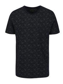 Tmavě modré vzorované tričko s krátkým rukávem Jack & Jones Vincer