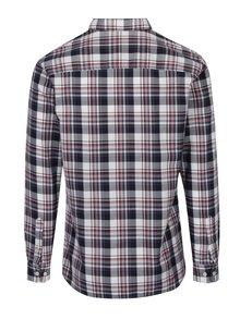 Camasa slim fit crem & bordo in carouri - Jack & Jones Premium Lawrence