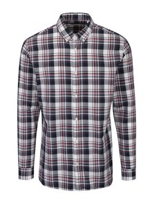 Camasa slim fit crem & bordo in carouri - Jack & Jones Premium Lawrence