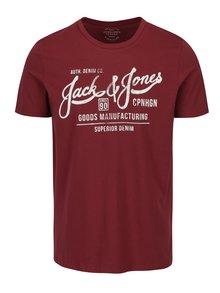 Vínové tričko s potiskem Jack & Jones Slack