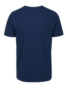 Tricou albastru din bumbac cu print - Jack & Jones Slack