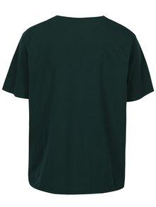 Tmavozelené tričko s potlačou Jack & Jones Stencild