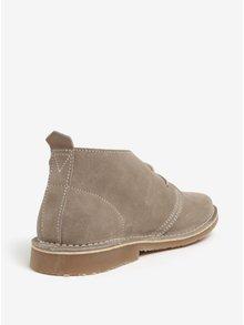 Béžové semišové kotníkové boty Jack & Jones Gobi