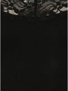Top  negru cu aplicatie de dantela VILA Officiel