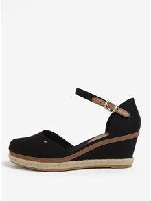 Černé sandály na klínku Tommy Hilfiger