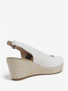 Bílé dámské sandály na klínku Tommy Hilfiger