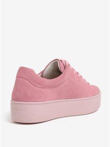 Pantofi sport roz din piele intoarsa cu platforma - Vagabond Jessie