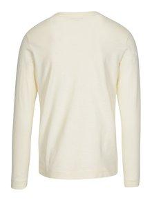 Krémové tričko s dlhým rukávom Selected Homme Ben