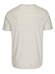 Béžové žíhané tričko Selected Homme Tom
